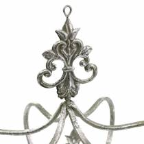 Dekorativ krona silvermetall Ø17,3cm H22,5cm