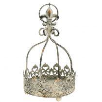 Krona för hängande antik kräm Ø10,5cm