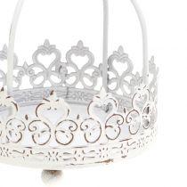 Krona för hängande antikvit Ø10,5cm