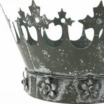 Bordsdekoration, dekorativ krona, blommig metallvindlampa, planter, metalldekoration