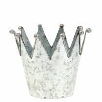 Dekorativ kruka krona metall silver Ø13,5 cm H11,5 cm 2 st