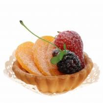 Tartlet persika konstgjord Ø8cm