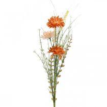 Konstgjorda ängblommor Orange konstgjorda blommor på Pick sommargarnering