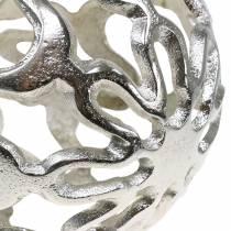 Dekorativa boll öppna metall silver Ø15cm
