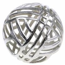 Dekorativa boll öppna metall silver Ø20cm
