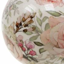 Dekorativ kula ros ljusrosa lergods Ø9cm