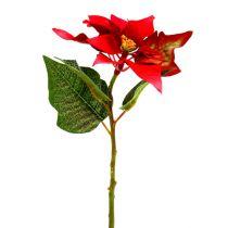 Konstgjorda blommor julstjärna röd L73cm