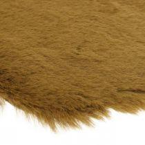 Pälsmatta deco brun Konstgjord pälsmatta 55 × 38cm