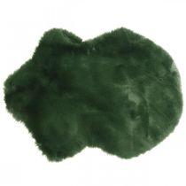 Dekorativ pälsmatta grön fuskpäls 55 × 38cm