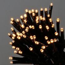 LED ris lätt kedja 350mm grön, varmvit för utomhus 7,5 m