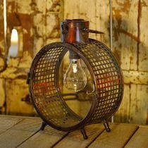 Solar lampa metall lampa balkong deco industriell design Ø23cm