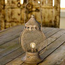 Metalllykta, LED-lampa, Shabby Chic Ø16cm H33,5cm