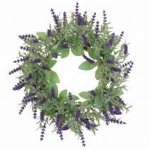 Lavendel krans flockade Ø25cm