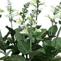 Konstgjord lavendelkruka, dekorativ lavendel, sidenblomma i vitt