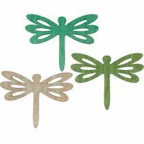 Sländor att sprida, sommar dekoration av trä, bordsdekoration grön 48st