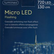 Lätt kaskadmikro-LED cool vit 720mm H130cm