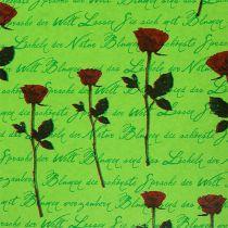 Manschettpapper 25cm 100m grön ros