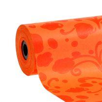 Manschettpapper orange med mönster 25cm 100m