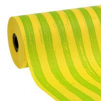 Manschettpapper 25cm ränder gulgröna 100m