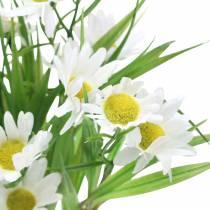 Marguerite bukett med dekorativt gräs 37cm