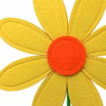Gigantisk filtblomma grön, gul, orange Ø40cm H93cm fönsterdekoration