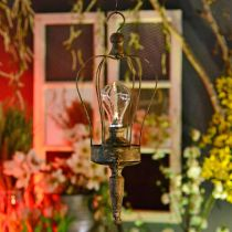 LED-lykta, dekorativ lampa, antikt utseende, Ø16cm H43cm