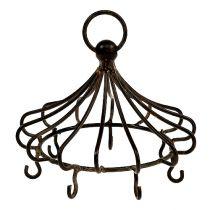 Metall krona för hängande brun