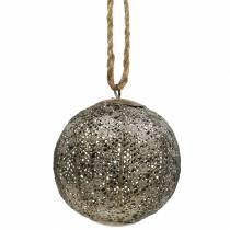 Antik metallkula för att hänga Ø10,5cm