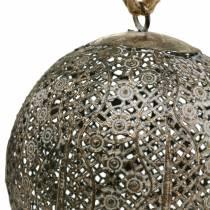 Antik metallkula för att hänga Ø13,5cm