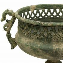 Dekorativ kopp antik look metallmossgrön Ø19cm H35,5cm