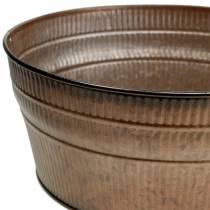 Plantskål orange / brun / grön zink Ø27cm H12cm set med 3