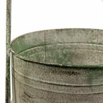 Metallställ med planteringskålar grå, grön H68cm