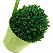 Växtkruka att hänga, balkongdekoration, blomkruka grön Ø13,5cm