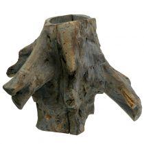 Dekorativ kruka rot grå 33cm x 29cm H30cm