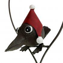 Fågel i hjärtat Deco galge metallgrå 48cm