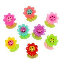 Mini blommor för att fästa 2 cm 24 st