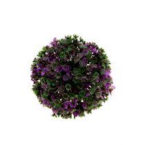 Minikula lila med blommor Ø12cm 1p