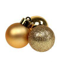 Mini julkula guld Ø3cm 14st