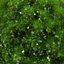 Moskula med glimmer Ø9cm grön