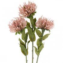 Höstblommor pincushion artificiell rosa Leucospermum 73cm 3st