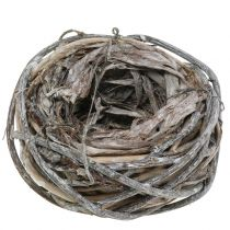 Påskkorg gjord av kvistar, naturlig, tvättad vit Ø13cm 3st
