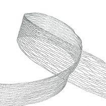 Meshband silver trådförstärkt 40mm 15m