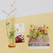 Blommeskum designerpaneler plug-in storlek gul 34,5 cm × 34,5 cm 3st