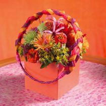 Blommor av tegel av skum i tegelsten 11cm x 11cm x 8,5 cm 4st