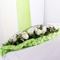 Blommigt skum tegelbord dekoration grön 22cm x 7cm x 5cm 10st