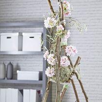 Blommig skumboll torr pasta grå Ø16cm 2st