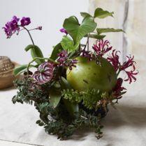 Blommor skumcylinder svart svart Ø15cm H5cm 2st