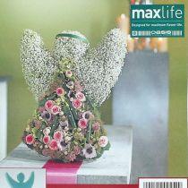 Blommig ängel med skumstorlek 45 cm x 34 cm