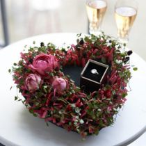 Blommor skum svart 17cm 2st bröllop dekoration