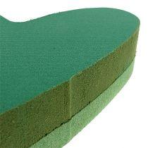 Pluggstorlek hjärtblommig skumgrön 24cm x 25cm 2st